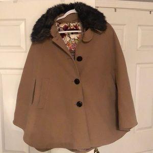 Women's swing cape coat